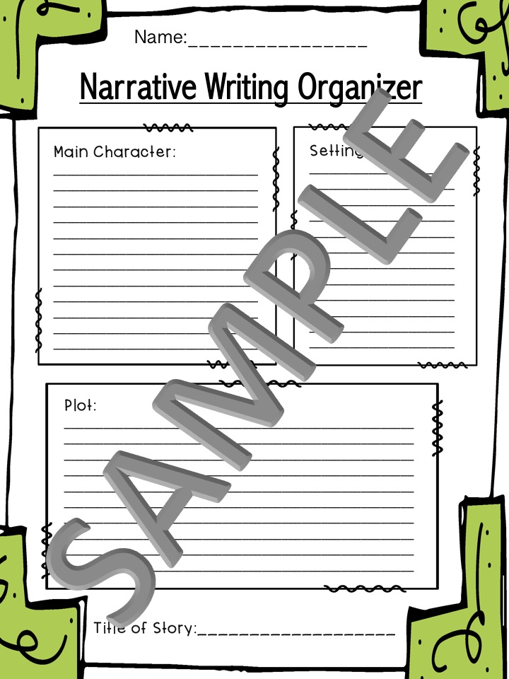 graphic organizers for narrative writing Different types of graphic organizers can be used for writing and understanding across the curriculum.